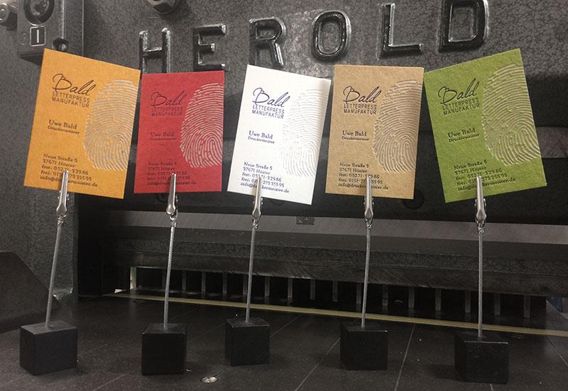 Bald Letterpress Die Letterpress Manufaktur