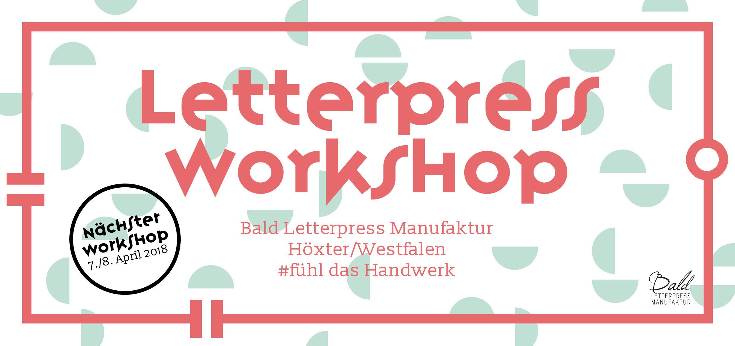 Letterpress Workshop in Höxter/Westfalen. Fühl das Handwerk. Einführung in die Kunst des Buchdrucks